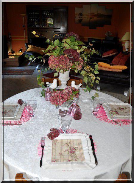 """ma table improvisée """"vieux rose"""""""