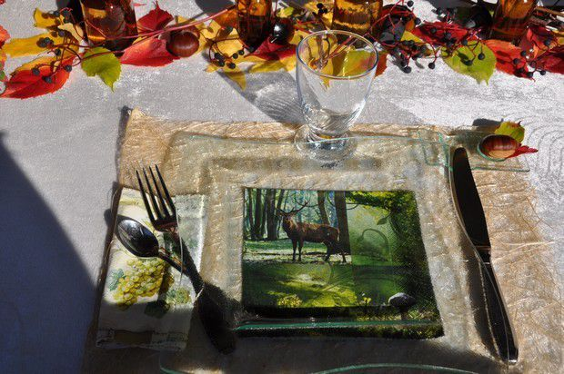 ma table : un 1 novembre en terrasse