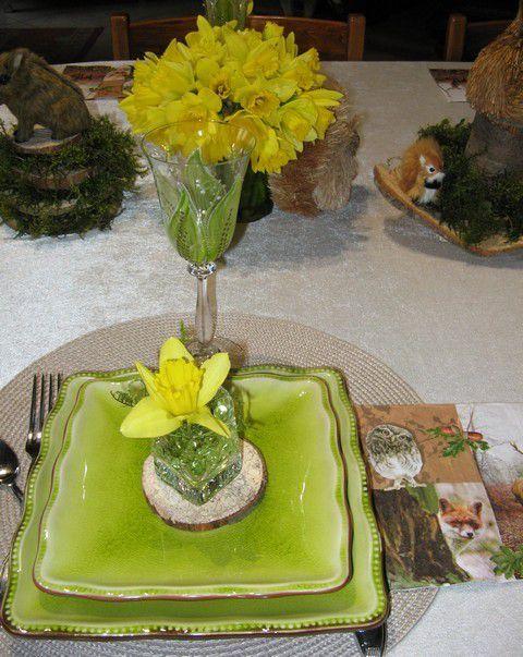 ma table un p'tit air de printemps