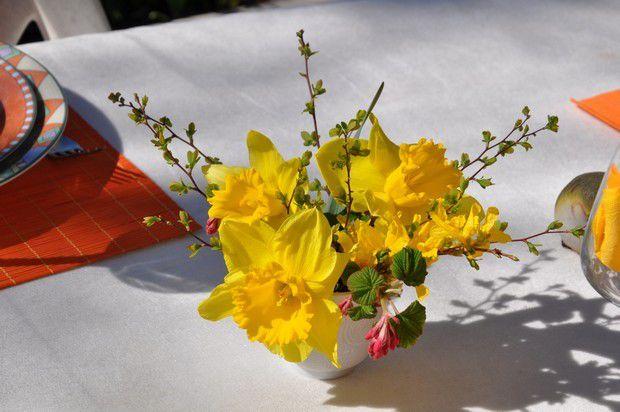 ma table le printemps au soleil