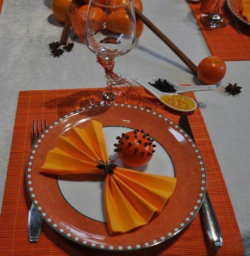 ma table oranges épicées..