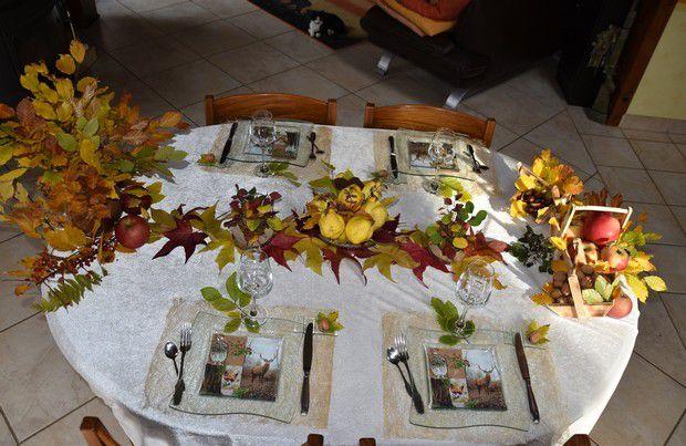ma table Symphonie de Feuilles