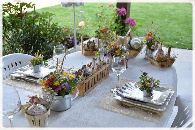 """le retour et ma table """"un dimanche à la campagne"""""""