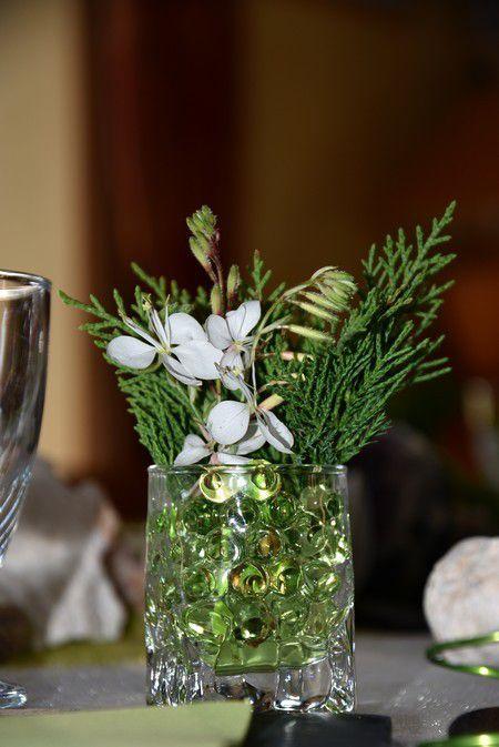 ma table minérale et sa touche de végétal