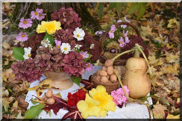 ma table fleurs d'automne