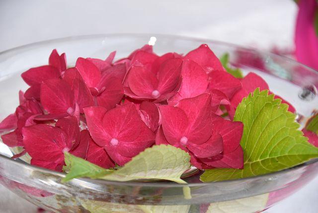 ma table improvisation en rose...