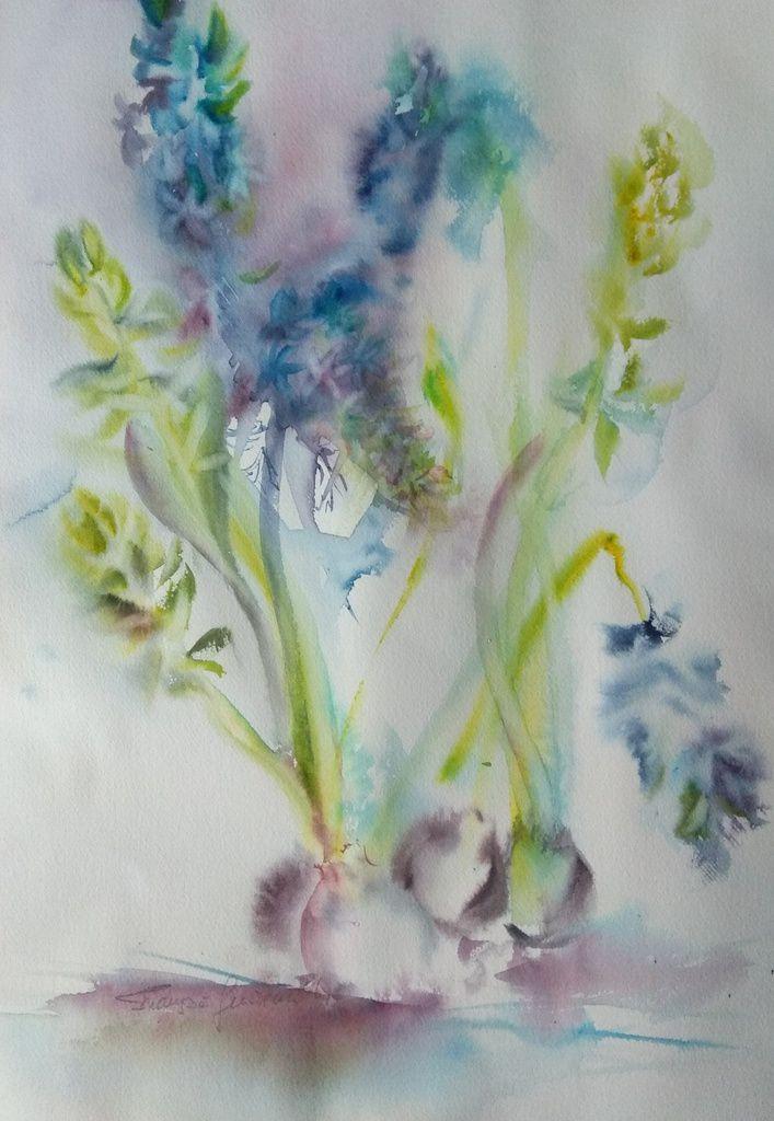 Aquarelle sur papier Arches, 36x51 . Du velours............