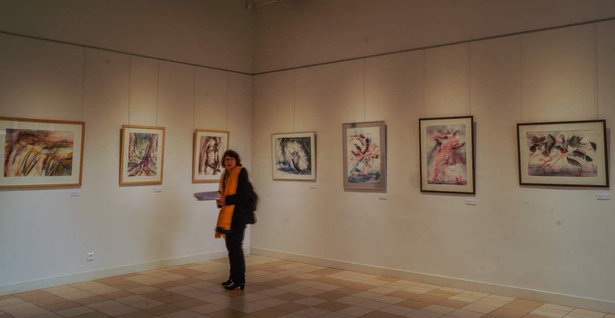 Aquarelle au château de Drancy . Mars 2018