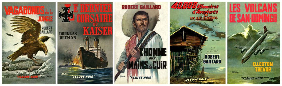 """Collection """"Grands Romans"""" (Fleuve Noir, Autre, illustrations Michel Gourdon)'"""