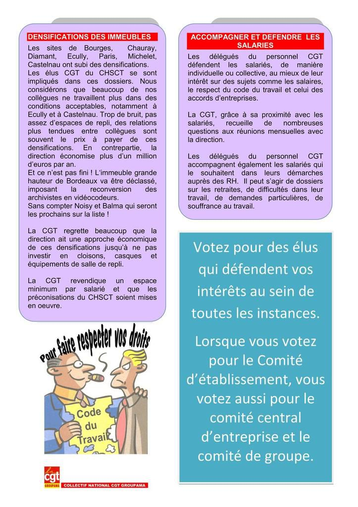 Propositions CGT G2S CE, surcharge travail, immeubles, réinternalisation, activités sociales, salaires...