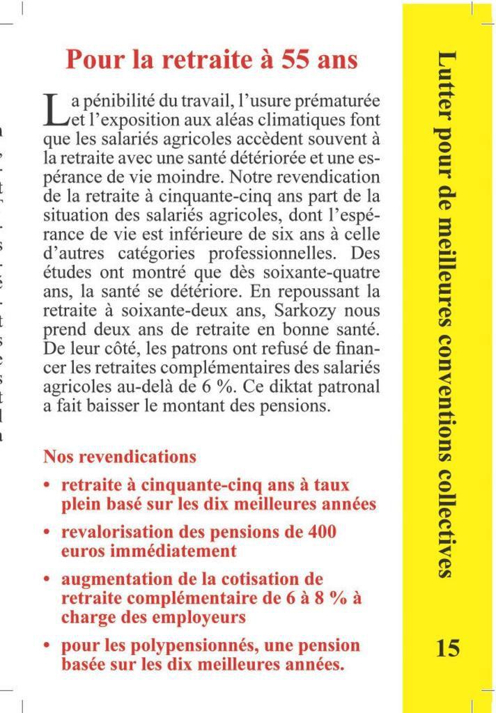 Livret CGT salariés agricoles