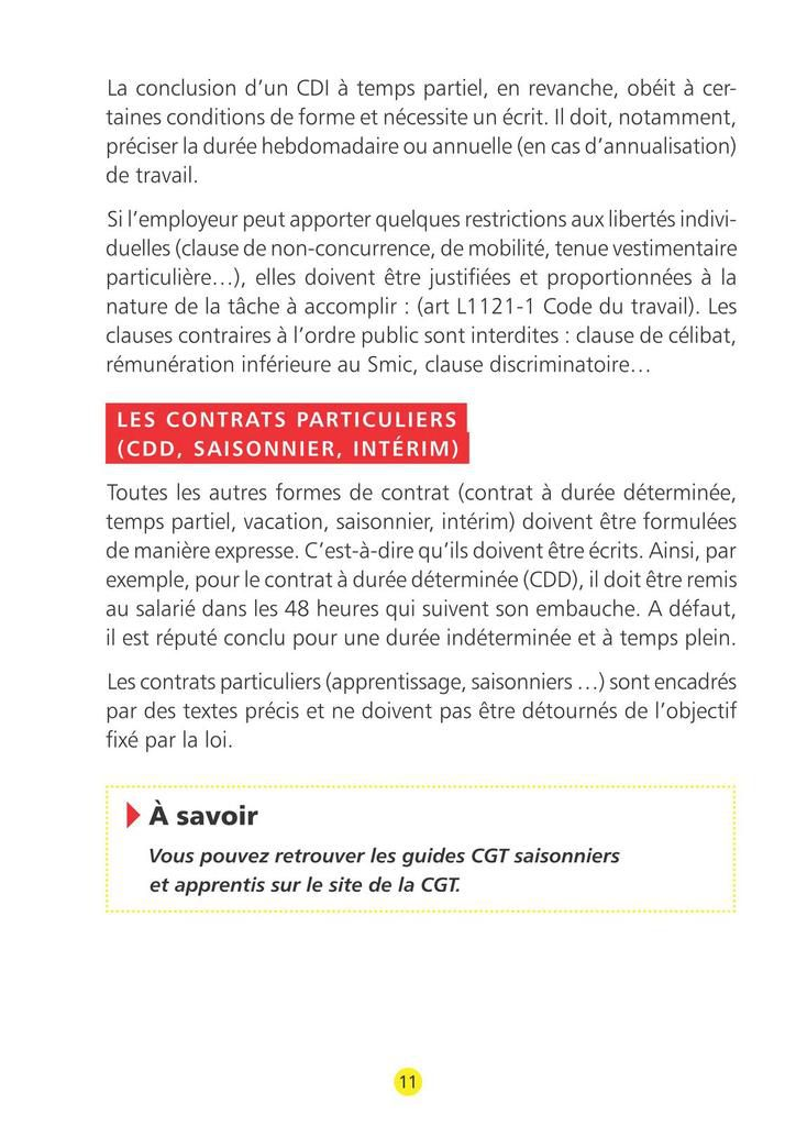 Guide CGT des droits du jeune salarié