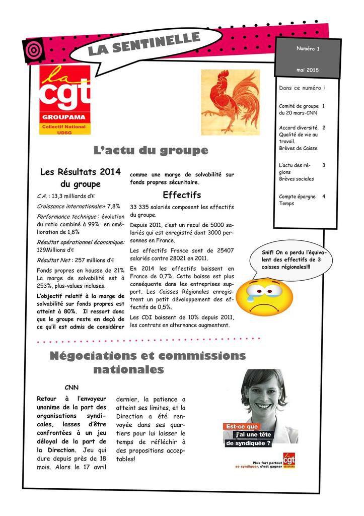 Journal CGT - Actualités du groupe, négos, qualité de vie au travail, brèves de caisses, de régions et sociales