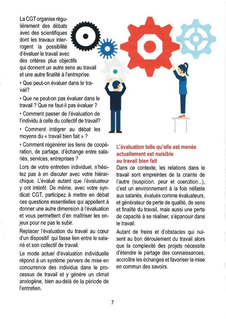 Guide CGT sur l'entretien d'évaluation du travail