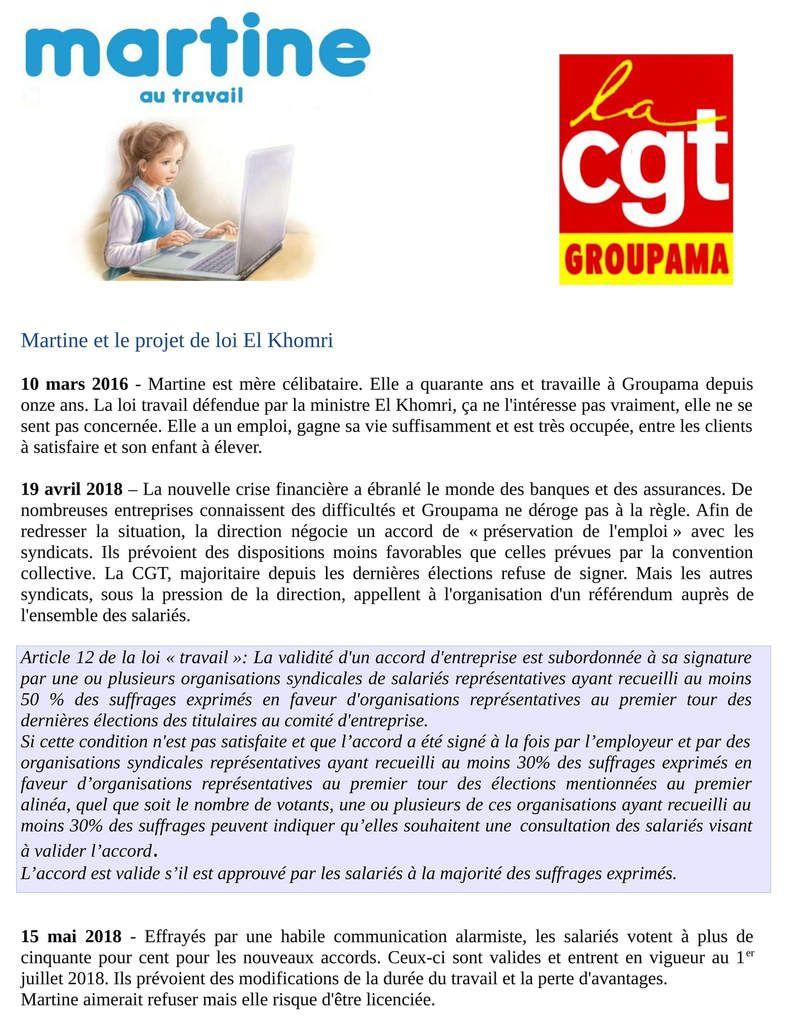 Martine et le projet de loi El Khomri - Toutes les raisons de manifester le 31 mars partout en France