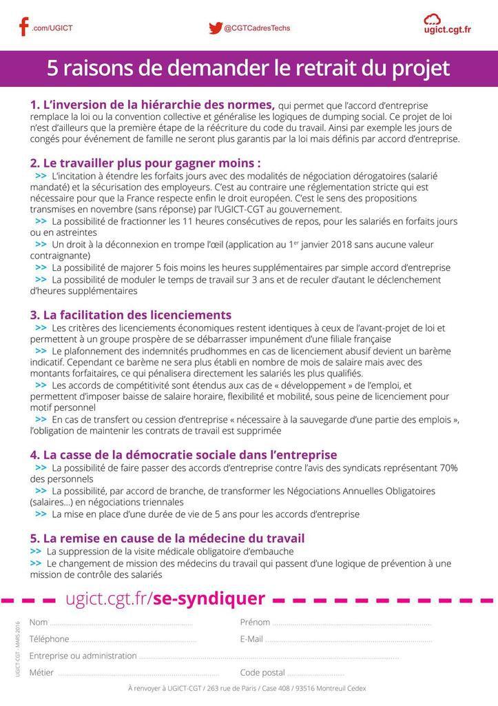 Manifestons tous massivement les 28 avril et 1er mai, amplifions la riposte pour le retrait de la loi travail !!