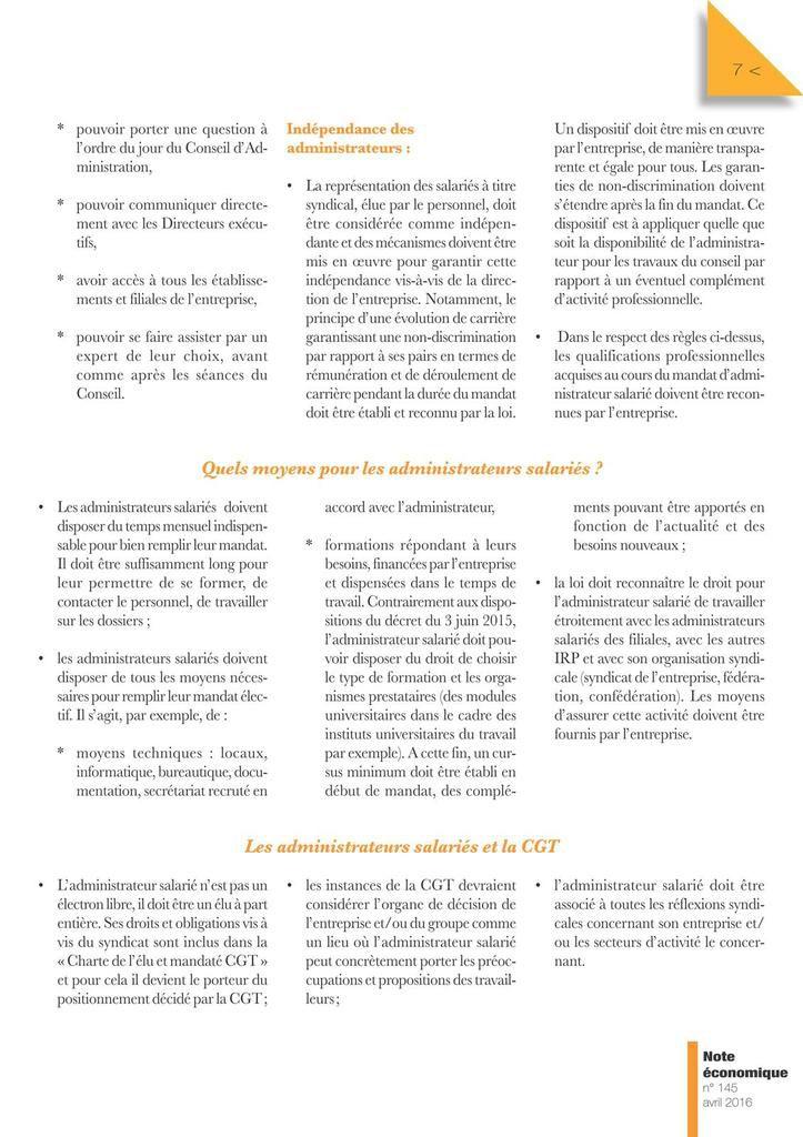 Note économique CGT N°148 - 28 février 2017