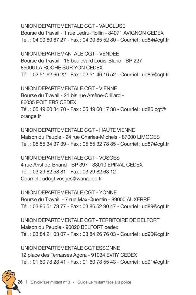 Guide CGT - Le militant face à la police -