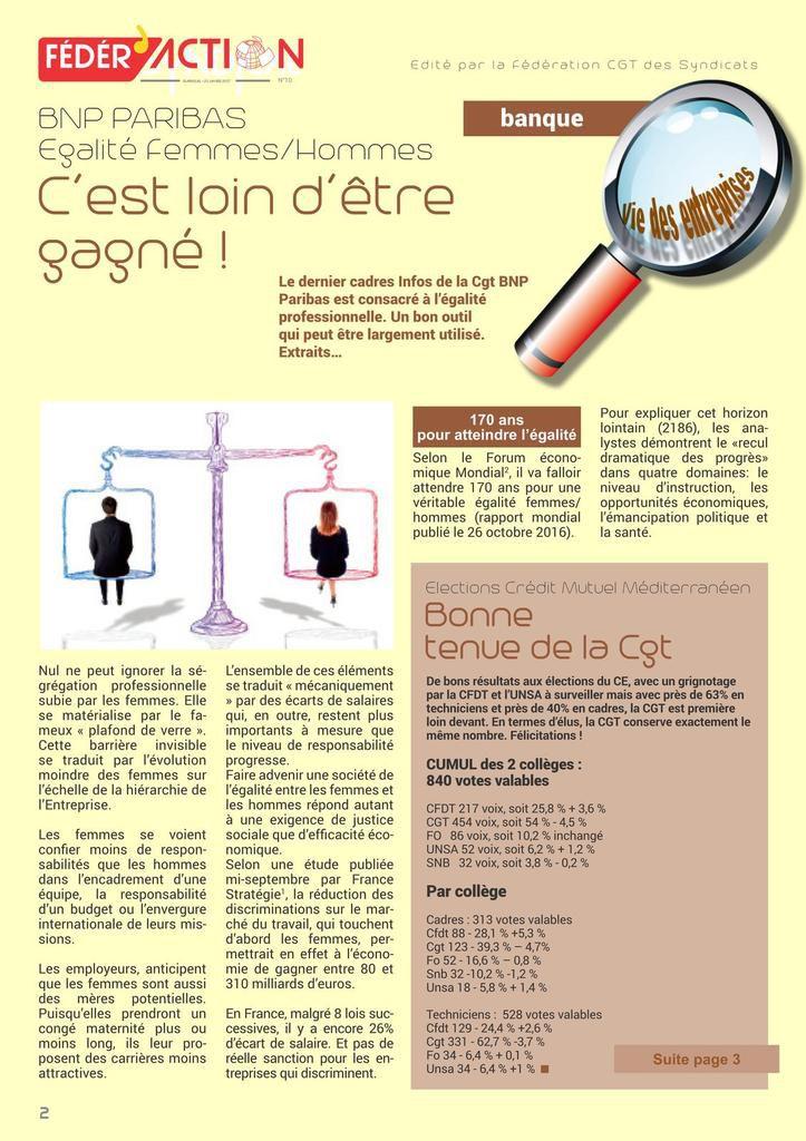 Fédér'action - Journal fédéral CGT Banques Assurances