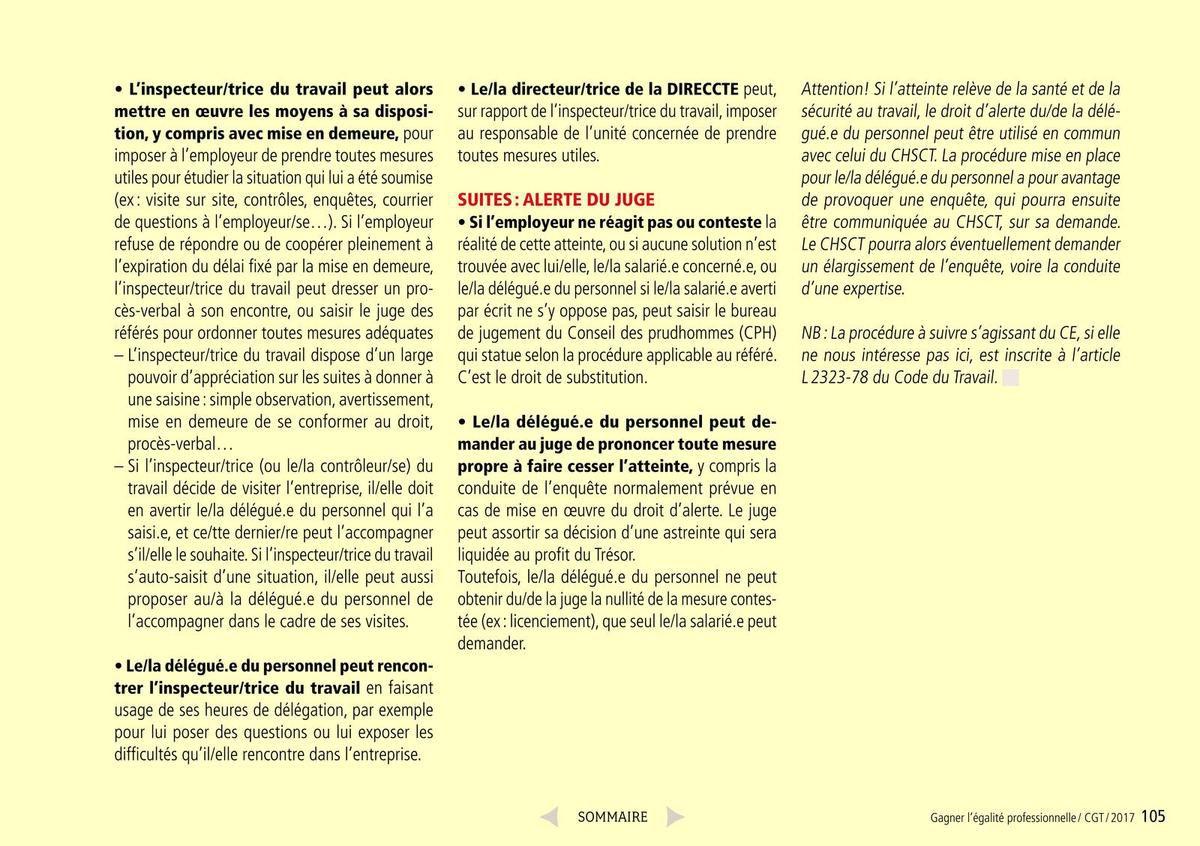 Guide CGT négociation de l'égalité professionnelle