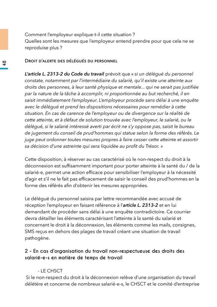 Guide UGICT CGT du droit à la déconnexion