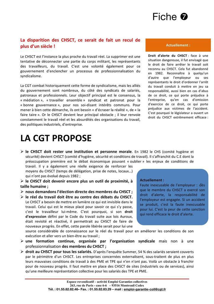Loi travail XXL - Fiches pratiques ordonnances - Affiches