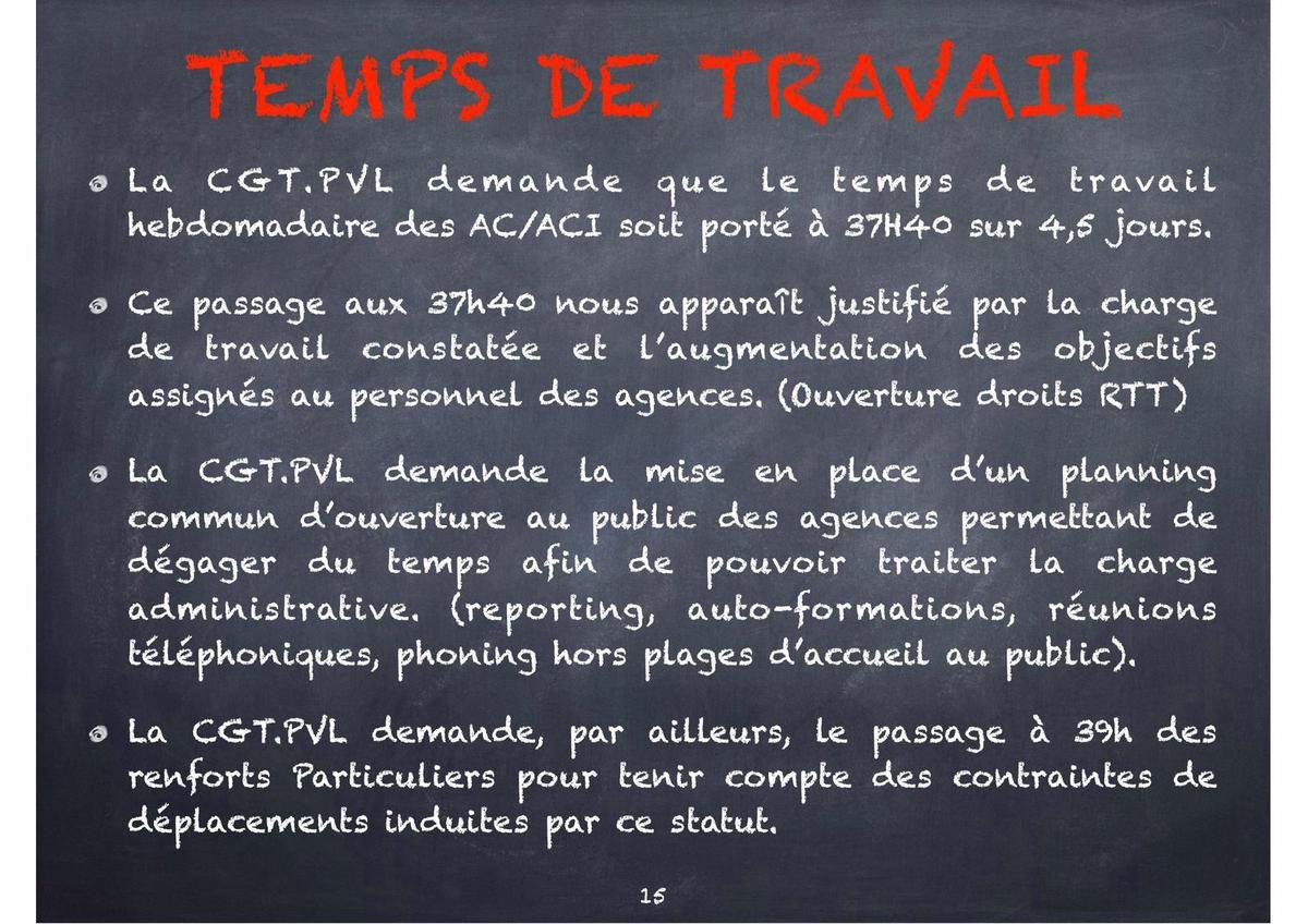 Elections Groupama Paris Val de Loire du 8 au 14 novembre 2017 - Le cahier des revendications CGT