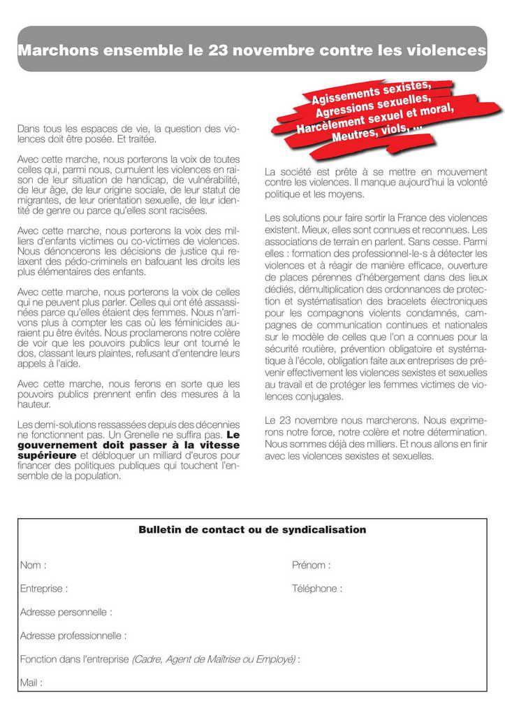 JOURNÉE MONDIALE : ÉLIMINATION DE LA VIOLENCE À L'ÉGARD DES FEMMES