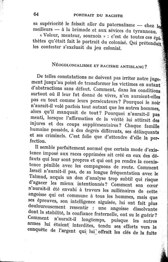 Pierre Paraf (MRAP) et le racisme anti-blanc.