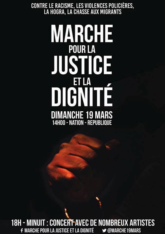 Appel commun de l'ATMF et de l'UJFP à participer à la Marche pour la Justice et la Dignité (19 mars, 14 h., Nation)