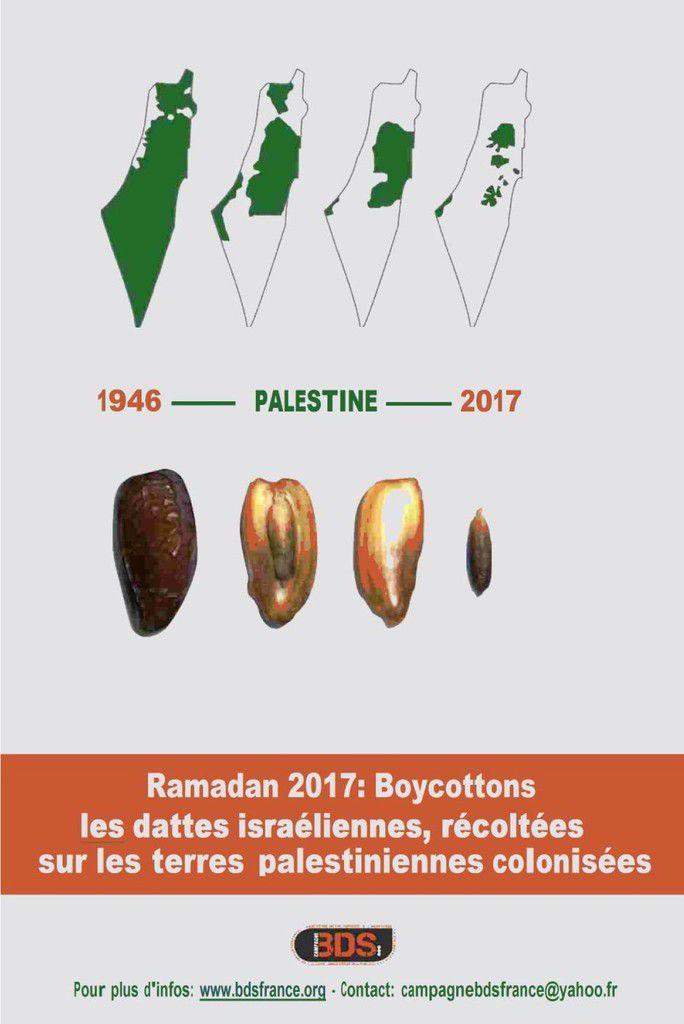 Boycottons les dattes de l'apartheid israélien! (BDS France)