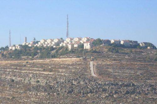 La colonie illégale de Psagot près de Ramallah en Cisjordanie