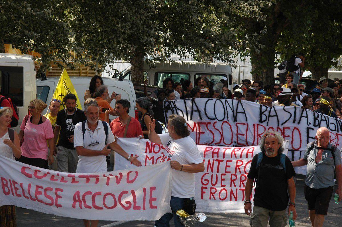 Ventimiglia Vintimilllle : Manifestation de solidarité avec les migrants le 14 juillet 2018 (1/3)