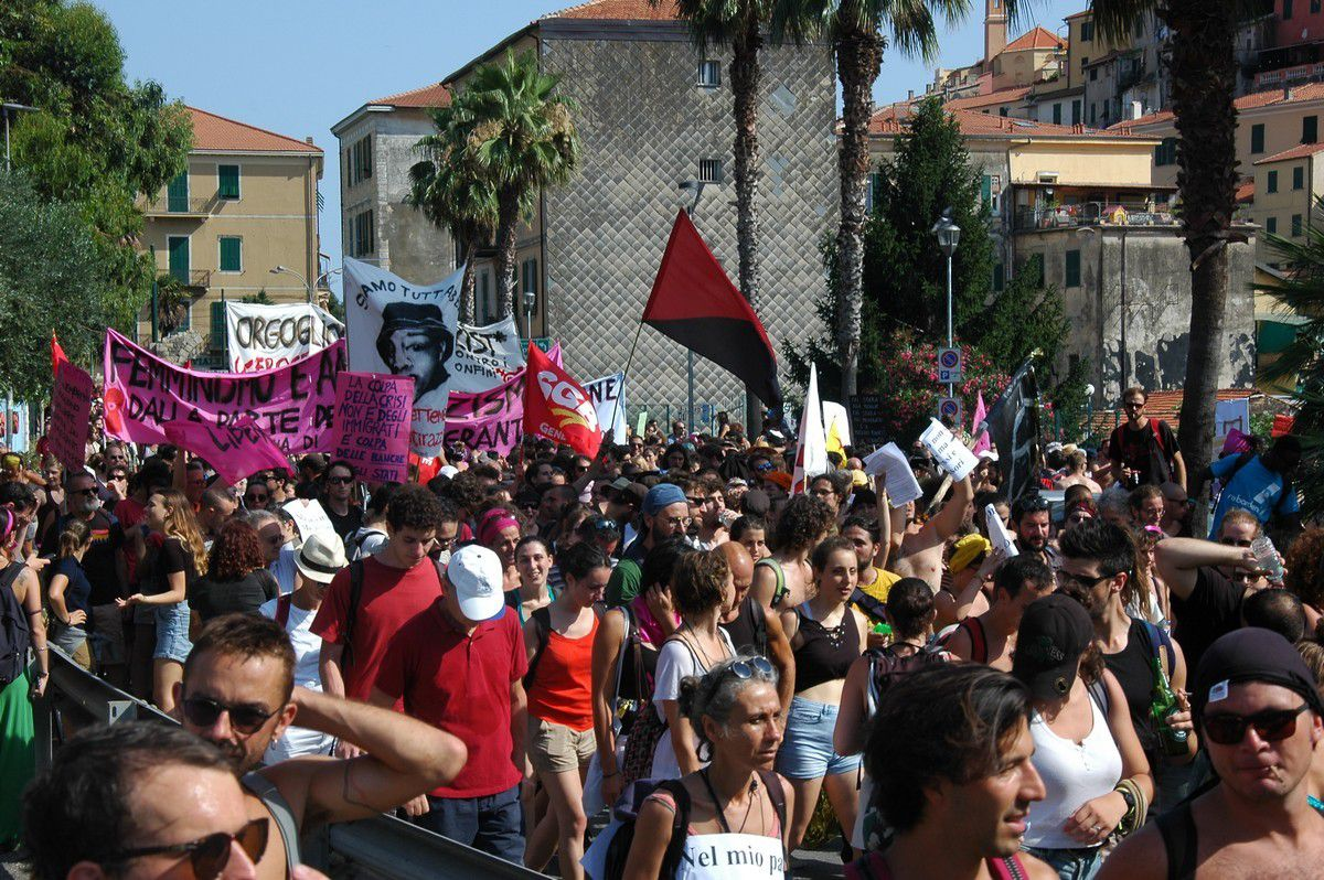 Ventimiglia Vintimilllle : Manifestation de solidarité avec les migrants le 14 juillet 2018 (2/3)