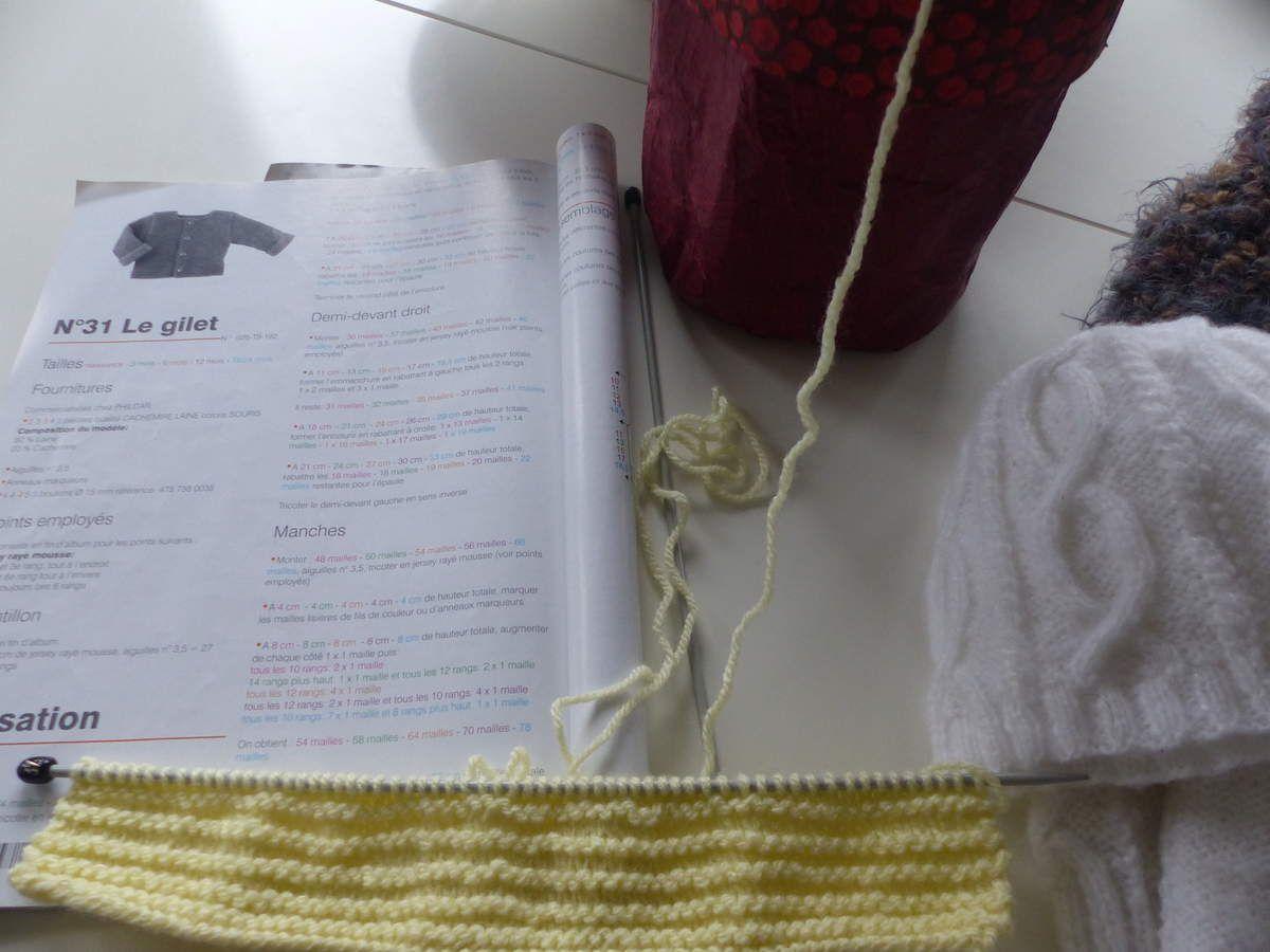 Fini, en cours et en cours, le tricot dans tous ses états !