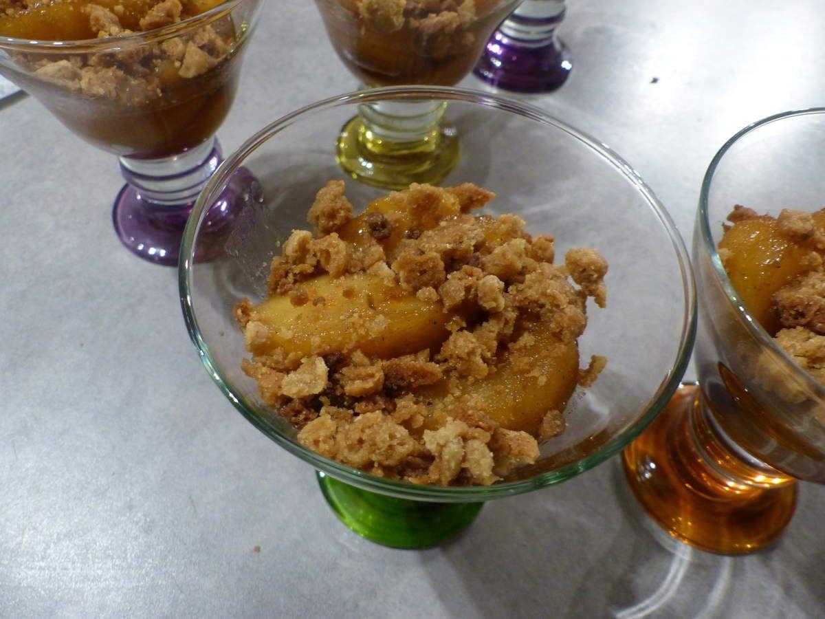Dessert fruit façon Tatin.