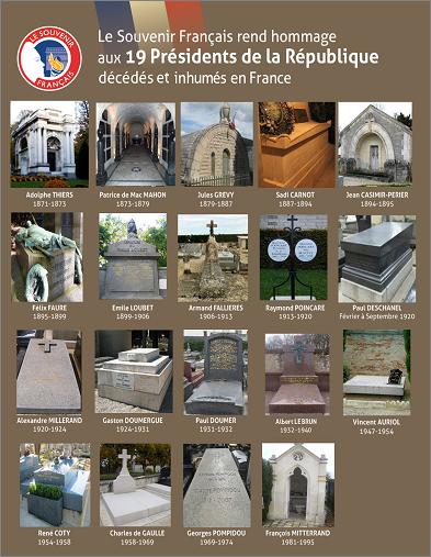 Le Souvenir Français va rendre hommage aux Présidents de la République.