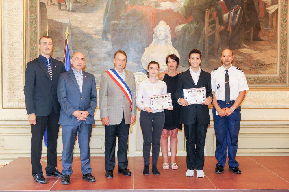 Deux jeunes élèves de Clichy mis à l'honneur.
