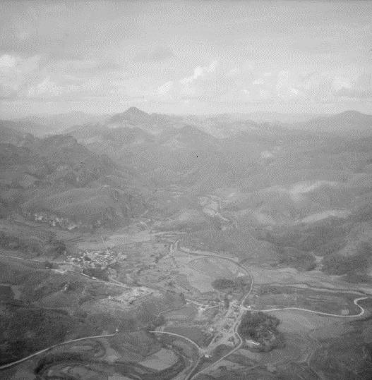 Vue aérienne de That Khê et de la région. Septembre-octobre 1950