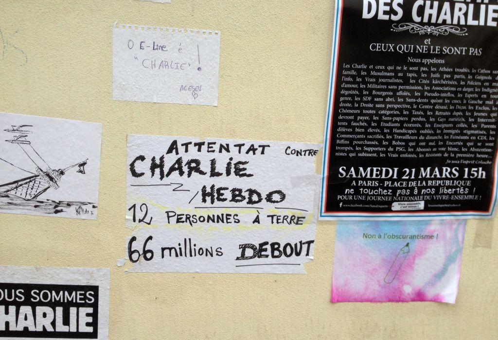 Hommage CHARLIE HEBDO-Allée VERTE-11eme