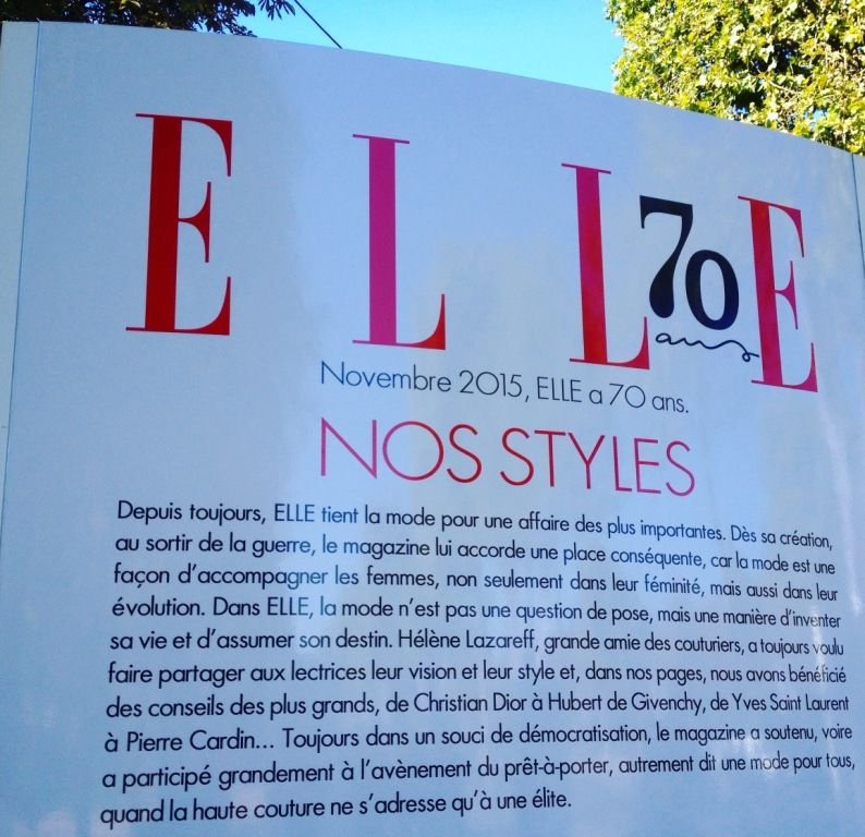 Expo magazine ELLE - 70 ANS d'existence - 1945 à 1970