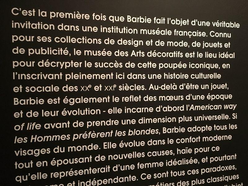 Exposition BARBIE Musée Arts Décoratifs - 1er