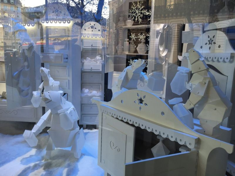 Galeries Lafayette : Vitrines Noel extra polaire 2016