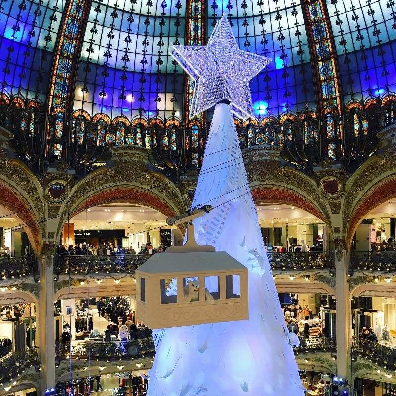 Galeries Lafayette Sapin polaire Noel 2016