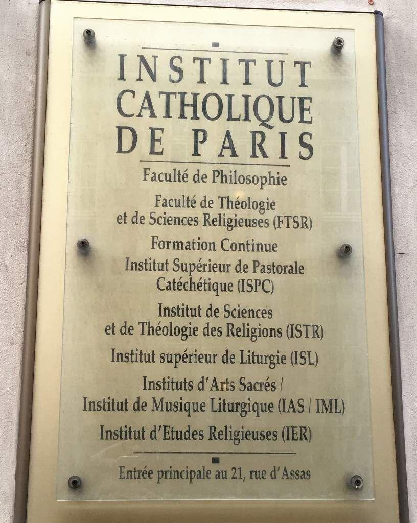 Institut catholique de Paris 6eme