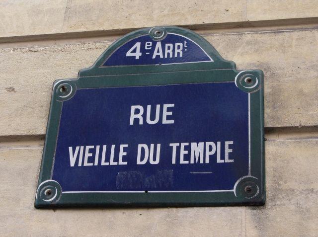 Rue vieille du temple 4eme