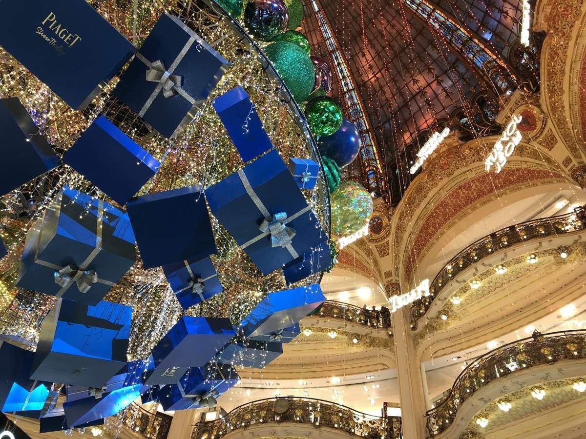 Sapin de Noel aux Galeries Lafayette fin 2018