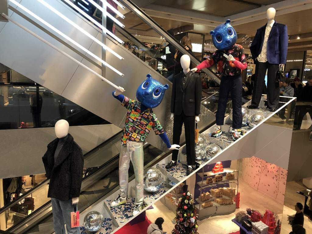 Magasin Printemps shopping de Noel 2019