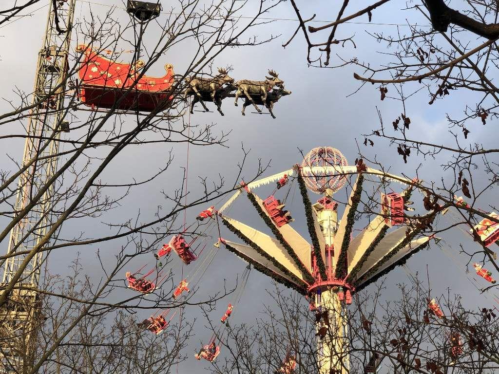Jardin des Tuileries, le Père Noel 2019
