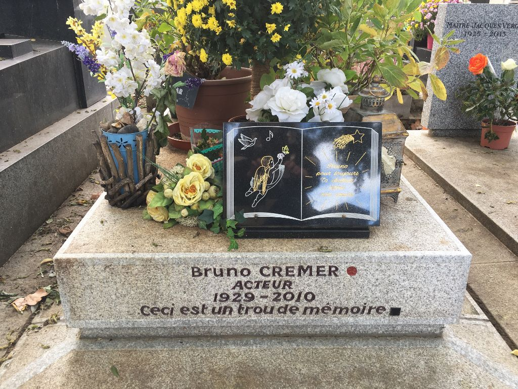 Sépulture Bruno Cremer - Cimetière Montparnasse 14eme